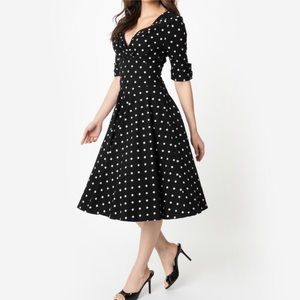 🌹Vintage Polkadot fit & flare dress
